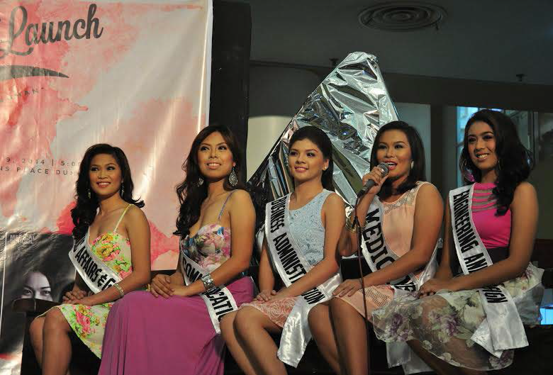 Miss Silliman candidates answer questions from press representatives and the audience during their press launch last Aug. 9 at Robinsons Place Dumaguete. PHOTO BY Jameela Mendoza