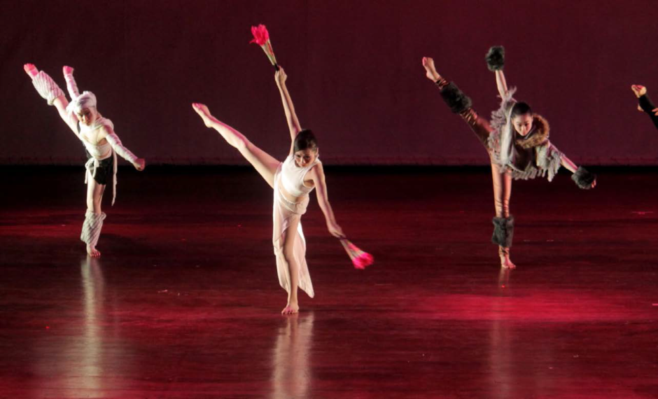 The Yuko Takahashi Dance Company performs ''Requiem for Dreams'' last Aug. 15 at the Luce Auditorium. The piece is dedicated to all the victims of the 2011 earthquake and tsunami that hit Japan and killed 20,000 people, including students of Ookawa Elementary School. PHOTO BY Nel Dableo