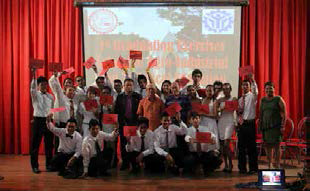 Twenty-one pioneer students graduate from the School of Agro-Industrial and Technical Education (SAITE) last Sept. 1 at the Cyber Lecture Hall of the Instructional Media and Technology Center. Photo from http://su.edu.ph/