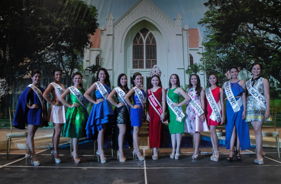 INTRODUCTIONS: Candidates of Miss Silliman Sapphire were formally introduced to the public during the Press Launch last Aug. 1 at the SU Gymnasium. PHOTO BY Lucille Jean Raterta