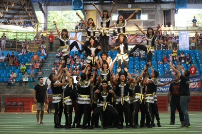 2-in-a-row. CBA wins this years SU Cheerdance Competition. PHOTO BY Kenno Elum