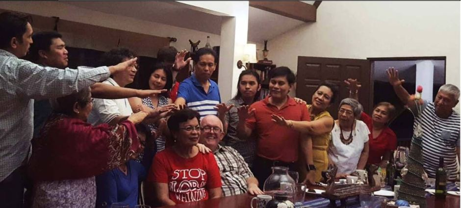 CONGRATULATIONS. Well-wishers of Silliman University's new president, Dr. Betty McCann, relay their blessings and prayers last Dec. 16, 2016 at the McCann residence. PHOTO FROM Ian Rosales Casocot.