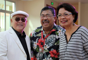 From left to right: Mariano C. Lao, Dr. Ben S. Malayang III, and incoming University President Dr. Betty McCann