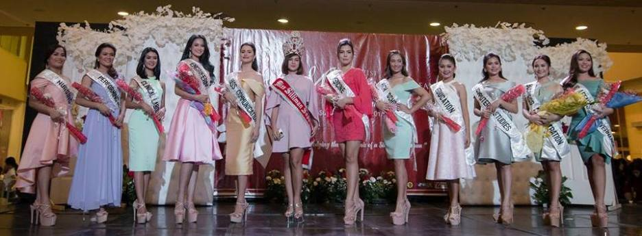 APOTHEOSIS OF A SILLIMAN WOMAN. The Miss Silliman 2017 candidates are presented to the public in a press launch together with reigning Miss Silliman, Aiko Kitane (center) last July 30 at Robinson's Place Dumaguete. Photo by Joshua Enriquez